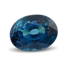 Blue Zircon - 3.18 ct