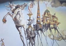 Salvador Dalí (post) - The Temptation of Saint Anthony