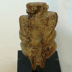 Neolithic fossilized bone mother goddess –  49 x 26 mm