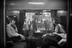Victor Blackman (1917-2009) -  Paul McCartney of the Beatles and Mick Jagger of the Rolling Stones - 'First Class Travel' - 1967