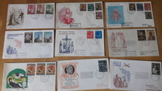 Vatican City, 1960-1970. Lot of first day of circulation letters and stamp albums from 1970s and 1980s