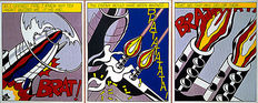 Roy Lichtenstein - As I opened fire, tryptichon - 1967