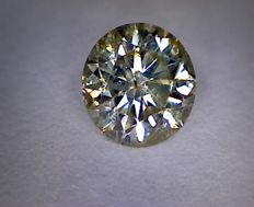 Diamond for 0.54 ct - round cut - colour: K, clarity: SI2