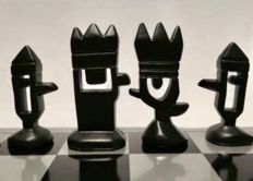 Mariscal steel chess set from the end of the 20th century