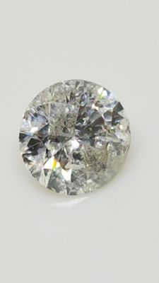0.66 ct - Round Brilliant - White - F / SI2 - No minimum price