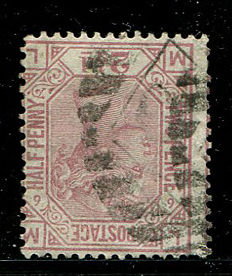 Great Britain 1873/80 - Queen Victoria – 2.5 pence rosy-mauve plate 6 Stanley Gibbons 141Wi, Watermark Inverted