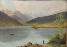 Unknown artist (20th century) - Lago D'Iseo, scorcio