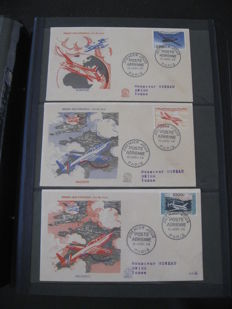 France 1950-1970 – Nearly complete collection of 1st days, FDC