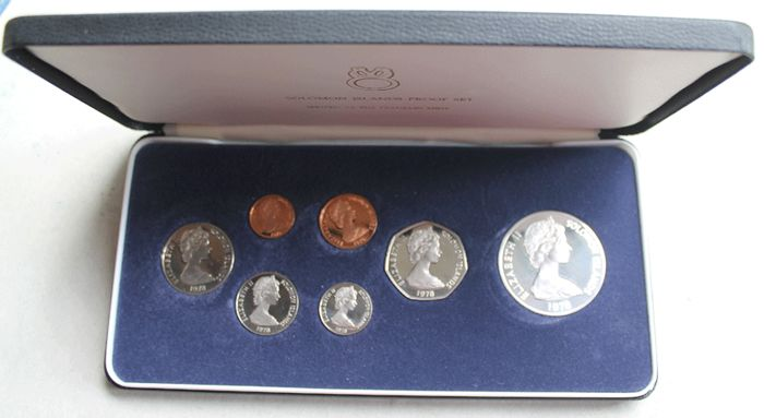 Franklin Mint - Solomon Islands Proof Set 1978 - with Silber
