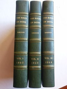 T.C. Jerdon - Birds of India. Bbeing a manual of ornithology specially adapted for India - 3 volumes - 186/1864