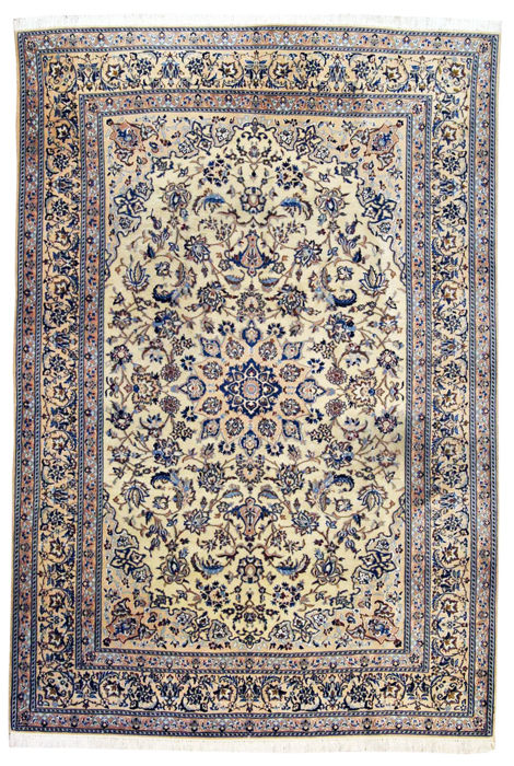 Nain extra fine Persian rug (Iran) – wool + SILK embroidery – 280 x 180 cm – approx. 400,000 knots per square meter – with certificate of authenticity from official expert appraiser – GalleriaFarah1970 – 92468