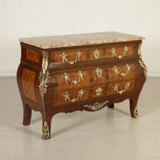Louis XIV style rosewood dresser - Italy, first half of the 20th century