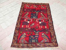 3537 # HAND KNOTTED HERATHI PICTORIAL RUG 89 X 143 CM