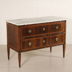 Neoclassical two drawers commode - Tuscany (Italy) - last quarter of the 18th century
