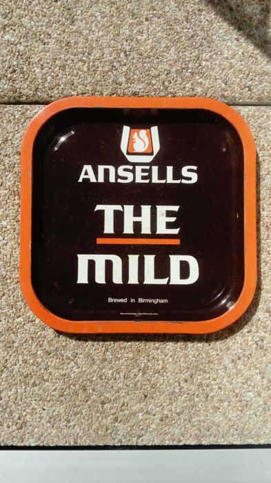 Ansells bar tray, 1965, Busch bar tray and Grimbergen bell