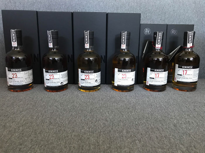6 bottles - Collection of 6 different Kininvie bottles. 17 and 23 years old - 6x 35cl