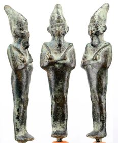 Egyptian Late Period bronze Osiris - ca. 13 cm - c. 5,12 inches