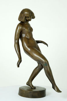 Maurice de Korte (1889-1971) - Bronze sculpture of a female nude