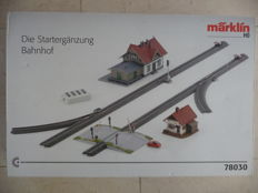"Märklin H0- 78030 - C-rail expansion set ""Station"""