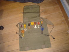 lot of 9 Belgian medals from different periods WW2 + a bagcraft Ltd. dated 1944 British made all in very good condition