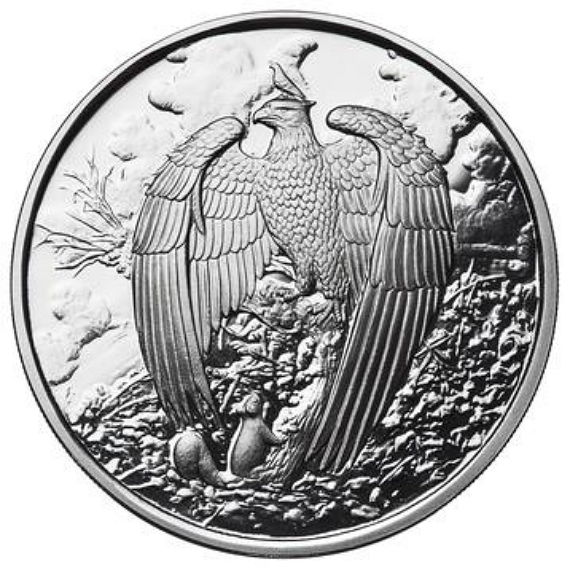 USA – Nordic Creatures – 2017 – The Great Eagle – 1 oz silver