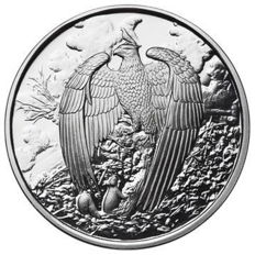 US - Nordic Creatures - The Great Eagle 2017 - 1 oz 999 silver - proof - polished plate - with box & certificate