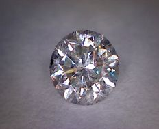 0.54 ct diamond – Round cut – Colour: D – Clarity: SI1