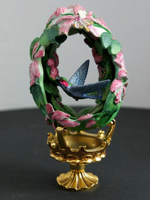 "Fabergé Jewellery Egg ""Allen Hummingbird"" - hand painted"