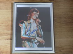 David Bowie  signed ( printed ) framed photo print..