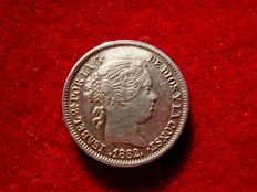 Spain – Isabel II (1833 – 1868), 1 real silver coin. Madrid – 1862.
