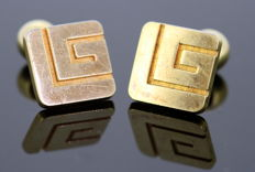 "Guy Laroche - French vintage gold plated ""G"" cufflinks, ca.1990"