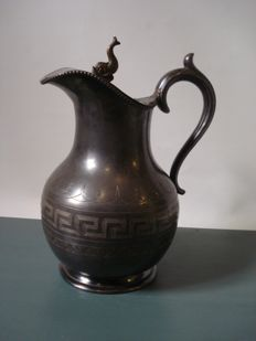 Pewter-Jug (Beak shaped jug) with valve cover-Germany-19th century