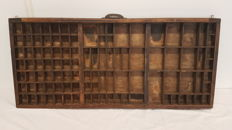 Antique English typecase, first half of the 20th century, United Kingdom