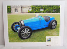 1924 Bugatti Type 35 B Limited Edition Original Giclee Mounted Print - Dimensions 27.9 x 20 Inch