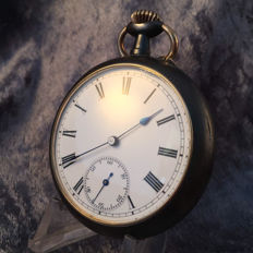 Men's pocket watch – Full calendar – Double sided – Circa 1910
