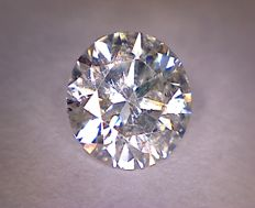 0.71 ct diamond – Round cut  – Colour: G – Clarity: SI2
