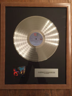 "David Bowie Let's Dance Platinum 12"" Award"