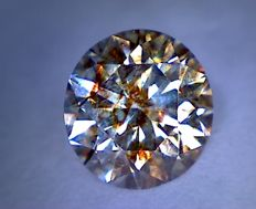 1.11 ct diamond – Round cut – Fancy brown – SI2