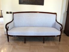 Mahogany sofa - Restoration period - France - 19th century