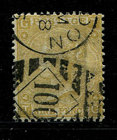 Great Britain 1867/80 – Queen Victoria – 9 pence straw Stanley Gibbons 110
