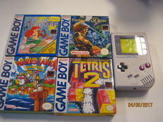 Nice original Gameboy incl 4 original boxed games. like:Wario land tetris 2,Fortress of fear., the little Mermaid.