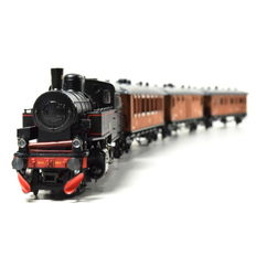 Märklin H0 - 28703 - Swedish passenger train with steam locomotive and three carriages of the SJ