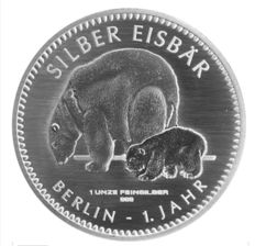 Germany - 1 oz 999 silver - Polar Bear 2017 - in coin card - first edition