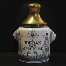 Tobacco pot (Toebak van Appelterre) - earthenware - lid in brass