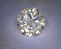 0.65 ct diamond – Round cut – Colour: J – Clarity: I1
