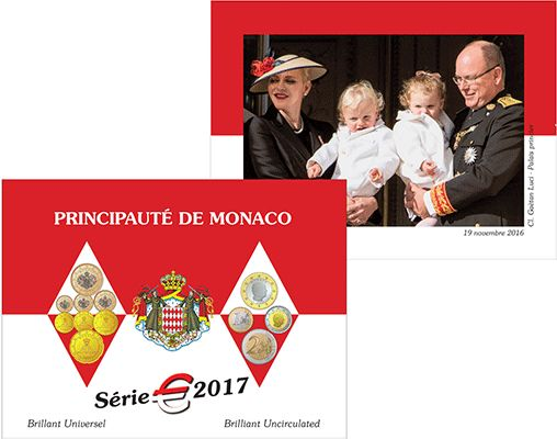 Monaco - Year pack with 1 cent up to 2 Euro 2017