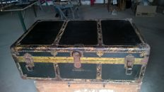 Antique Large wardrobe - Steamer Trunk - ark coffer Doostproof 39""