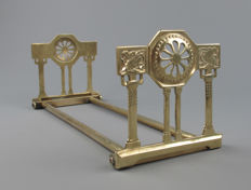 Art Deco - Brass extendable bookends, birds
