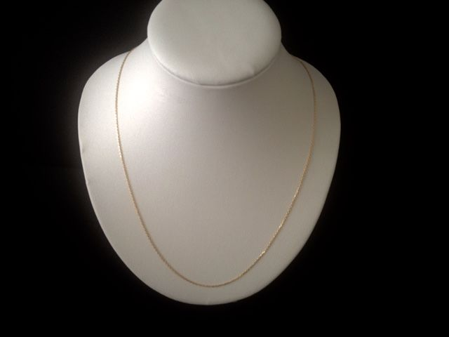 Women's 18 kt gold necklace, 45 cm