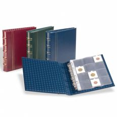 Accessories, Leuchtturm, three Optima coin albums with thirty coin sheets providing room for 360 coin holders